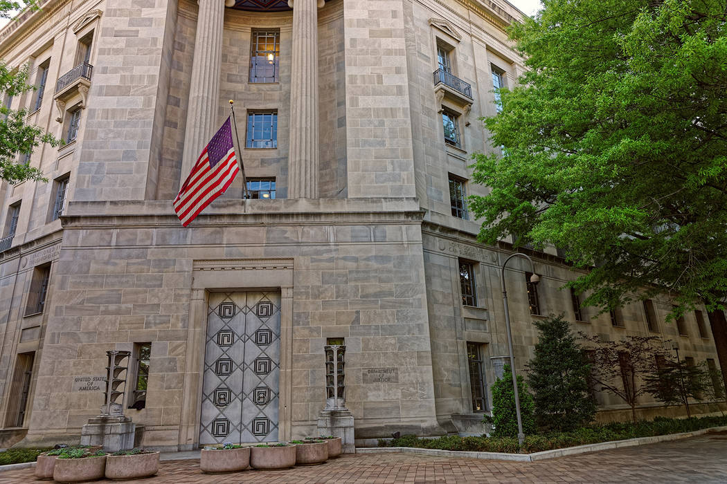 Thinkstock This photo shows the U.S. Department of Justice, which is located in Washington D.C.