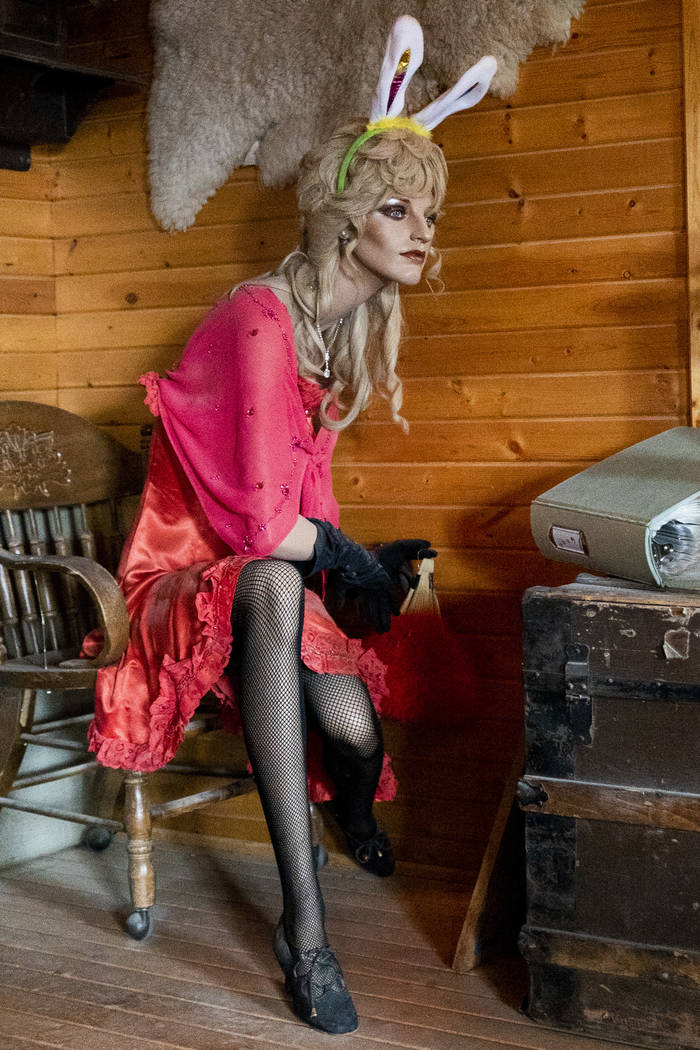 A mannequin photographed in Walt Kremin's saloon at Gold Point, Tuesday, Sept. 4, 2018. After a decades long property dispute, the Bureau of Land Management has announced plans to transfer ownersh ...