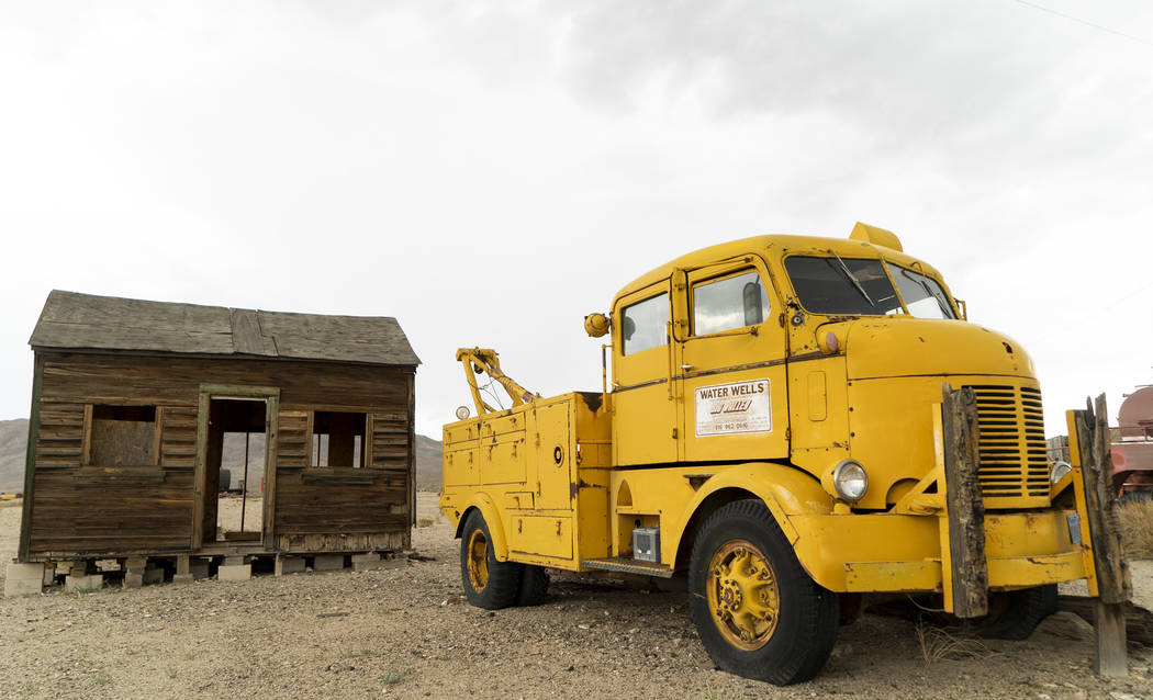 An abandoned shack and truck photographed in Gold Point, Tuesday, Sept. 4, 2018. After a decades long property dispute, the Bureau of Land Management has announced plans to transfer ownership of t ...