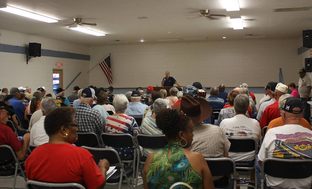Robin Hebrock/Pahrump Valley Times A large group of local veterans are shown attending the Nevada Department of Veterans Services' Pahrump Veterans Forum in August, during which many had questions ...