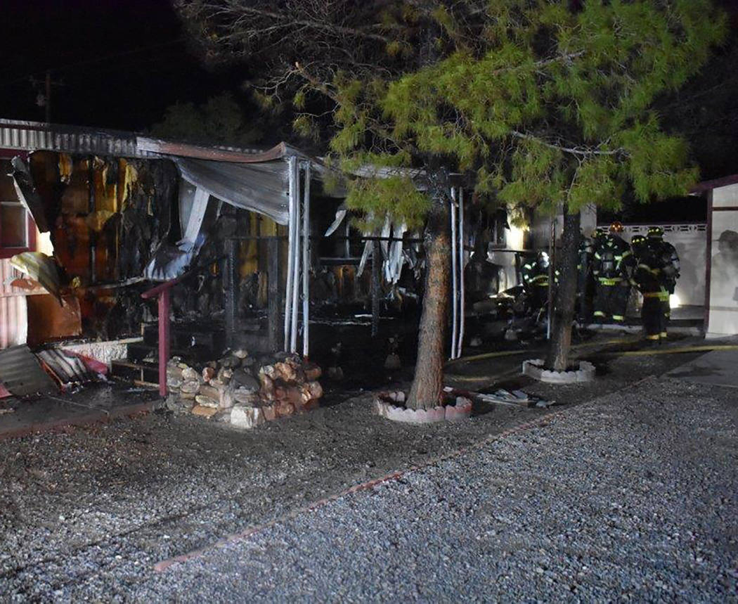 Special to the Pahrump Valley Times It took fire crews several hours to extinguish last Tuesday's structure fire. After an initial and secondary search of the residence, fire crews determined the ...