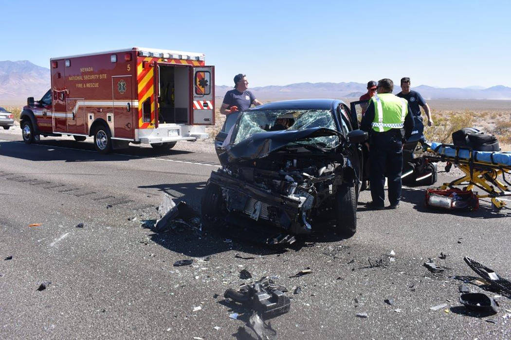 Special to the Pahrump Valley Times A motorcyclist was transported via Mercy Air to UMC Trauma in Las Vegas after a collision along Highway 95, near mile marker 18 on Wednesday afternoon September ...