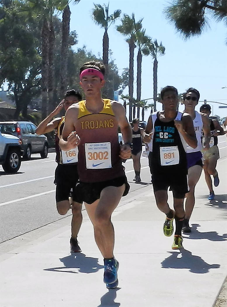 Tammi Odegard/Special to the Pahrump Valley Times Pahrump Valley's Jacob Cipollini covered 3 miles in 16 minutes, 46.3 seconds to finish seventh in the Senior Division 3 race Saturday at the 45th ...