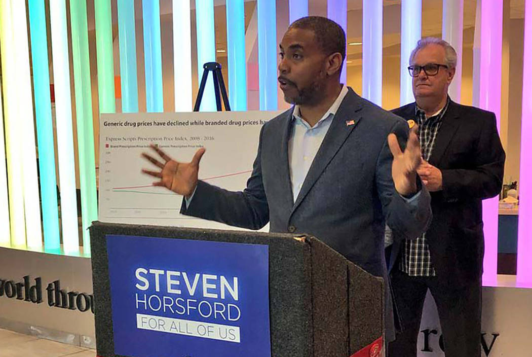 Steven Horsford, seen in 2018, is a Democratic candidate for Nevada's 4th Congressional District. (Las Vegas Review-Journal)