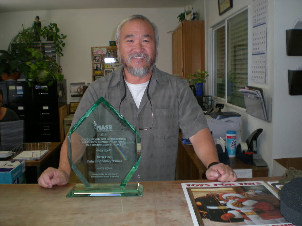 Pahrump Valley Times file Former sports editor Vern Hee