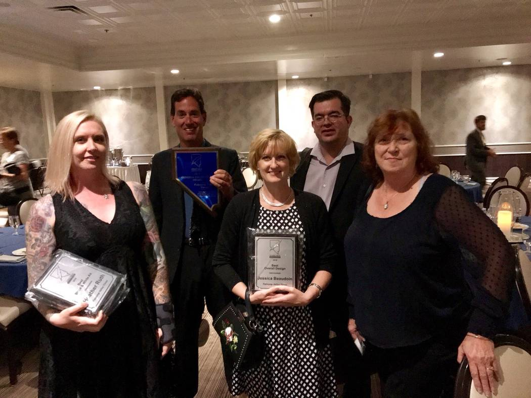 Brandon Ruth/Special to the Pahrump Valley Times The Pahrump Valley Times won general excellence in the intermediate category at the 2018 annual Nevada Press Association's Better Newspaper Conte ...