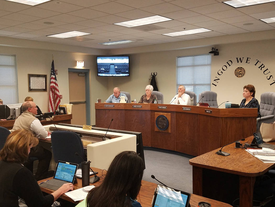 David Jacobs/Pahrump Valley Times A look at the Nye County Commission chambers in Tonopah. The commission holds meetings in both Tonopah and Pahrump.