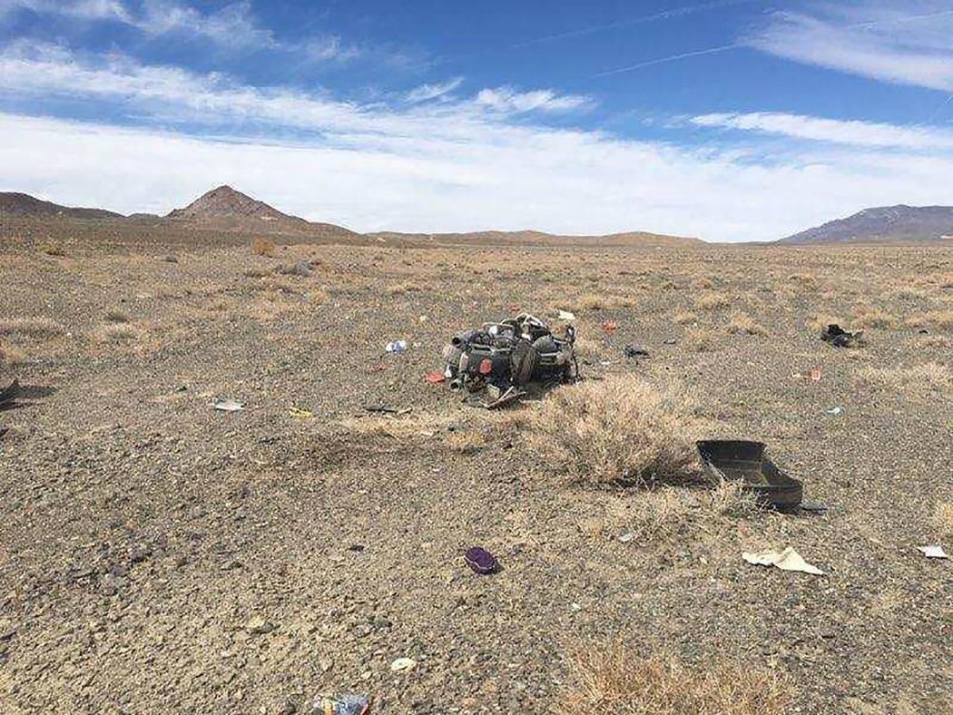 Nevada Highway Patrol The crash occurred Sept. 29 along U.S. Highway 95, north of Coaldale Junction,