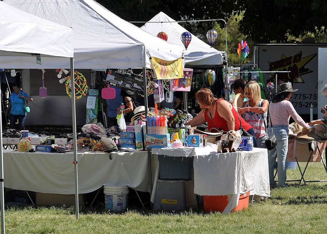 Horace Langford Jr./Pahrump Valley Times Though most of the vendors at Petrack Park each year are locals, the fall festival also attracts vendors from the Las Vegas area and surrounding states, wh ...