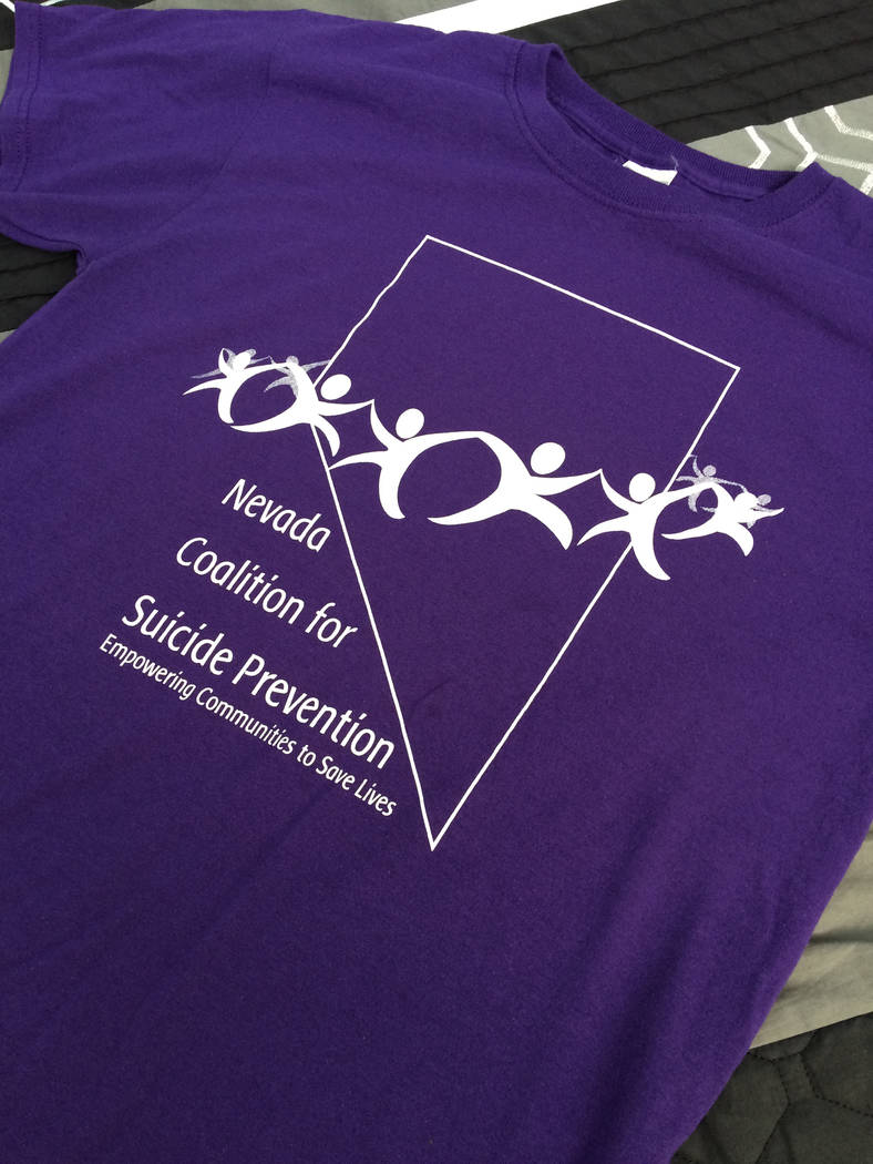 Robin Hebrock/Pahrump Valley Times The iconic purple color of the Walk In Memory, Walk For Hope event T-shirt has a special meaning, linked to the effort to raise awareness about suicide.