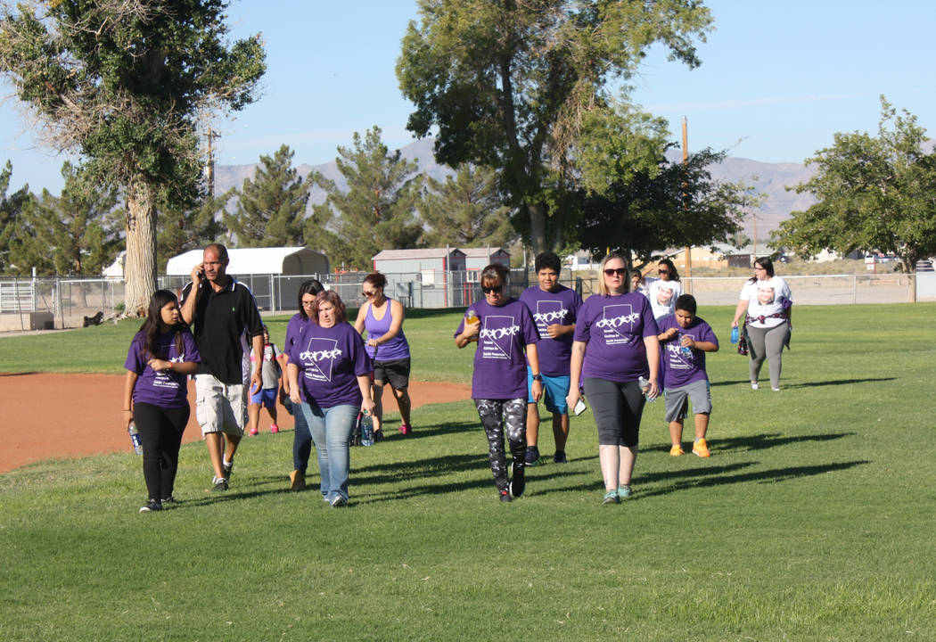 Robin Hebrock/Pahrump Valley Times Pahrump area residents from all walks of life and all types of backgrounds joined together for the annual community walk, the mission of which is suicide awareness.