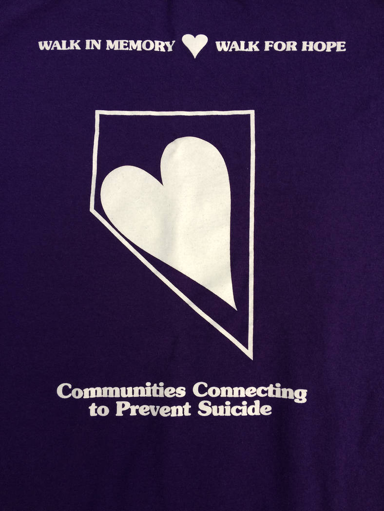 Robin Hebrock/Pahrump Valley Times The logo for the Walk In Memory, Walk For Hope, an annual gathering aimed at suicide prevention and awareness.