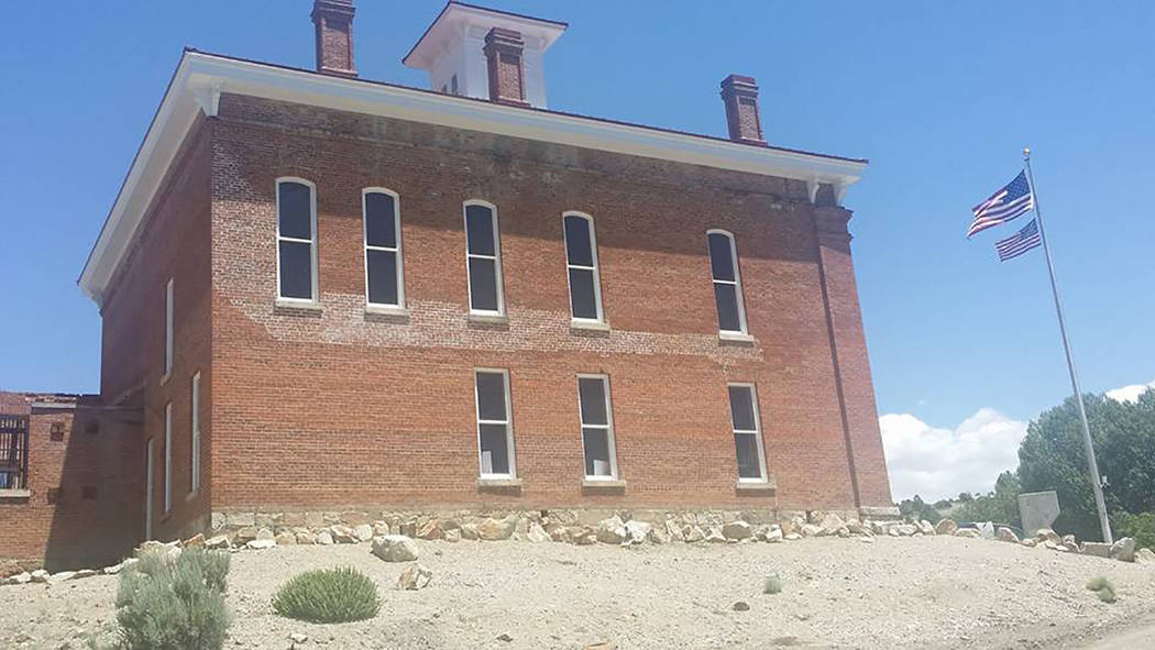 David Jacobs/Times-Bonanza & Goldfield News A side view of the historic Belmont Courthouse is shown in this 2016 photo. The arts and crafts show benefits continued restoration of the historic Belm ...