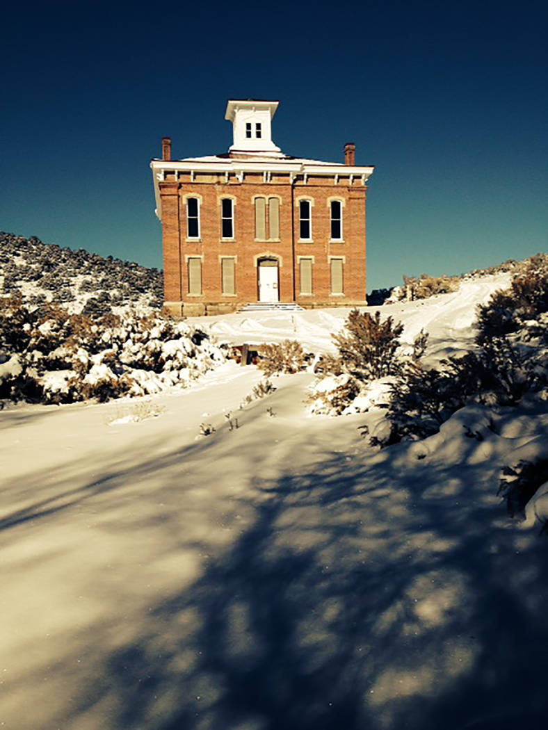 Special to the Pahrump Valley Times This image shows the Belmont Courthouse, prior to the start or renovation efforts headed by the Friends of the Belmont Courthouse.
