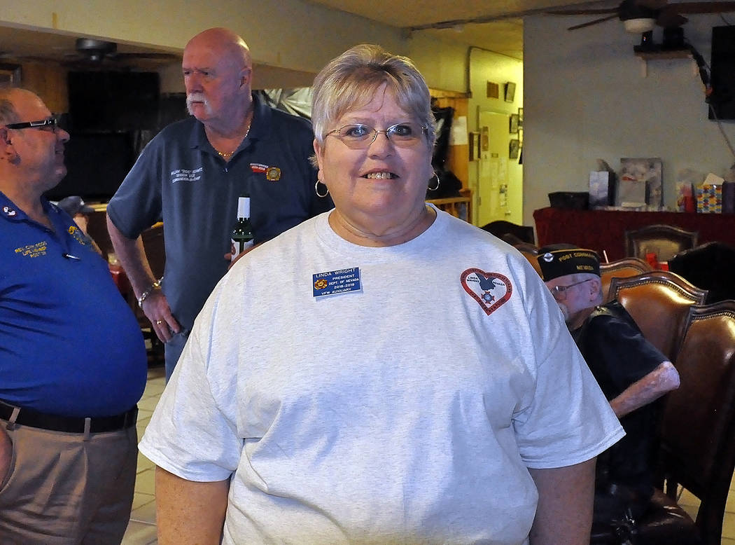 Horace Langford Jr./Pahrump Valley Times - Department of Nevada VFW Auxiliary President Linda Wright posed for a quick photo during the VFW Homecoming event hosted September 29 in Pahrump.