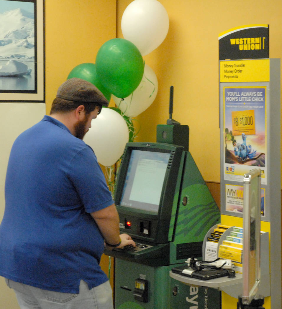 Horace Langford Jr / Pahrump Valley Times Pictured is Valley Electric Association's EasyPay Kiosk inside Smith's Food at 601 S. Highway 160. Valley announced the opening of a new kiosk for Sandy ...