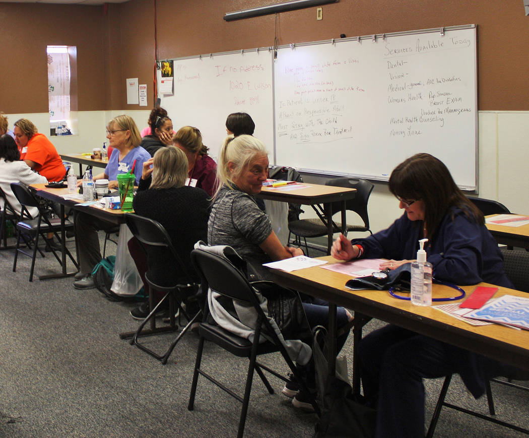 Robin Hebrock/Pahrump Valley Times The triage room at the RAM clinic was filled with patients receiving their initial assessments before they were sent to see specific health care professionals, d ...