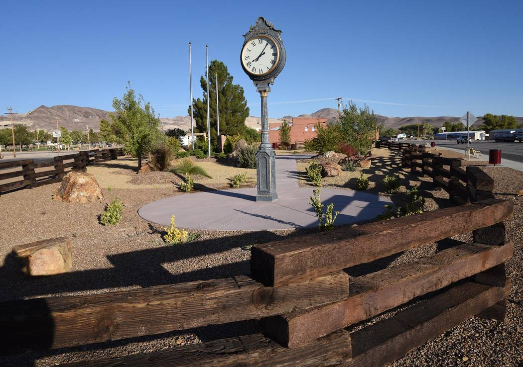 Richard Stephens/Special to the Pahrump Valley Times The Robert A. and Florence Revert Beatty Town Square Park, which welcomes visitors to Beatty, will be getting lighted garlands around the fence ...