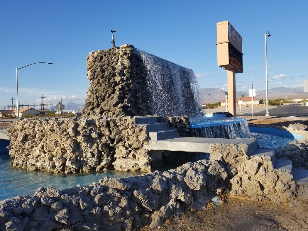 David Jacobs/Pahrump Valley Times The Calvada fountain returns after a nearly six-year absence. Nye County is still working on the fountain.