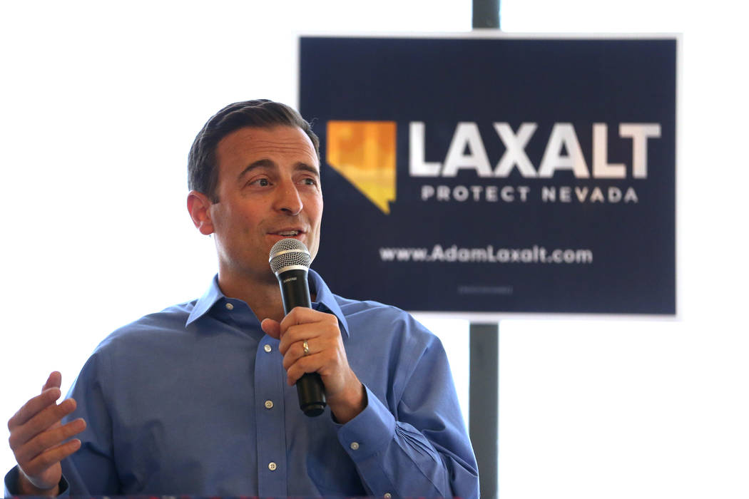 Erik Verduzco/Las Vegas Review-Journal In response, the Laxalt campaign pointed to the candidate's own health care plan.