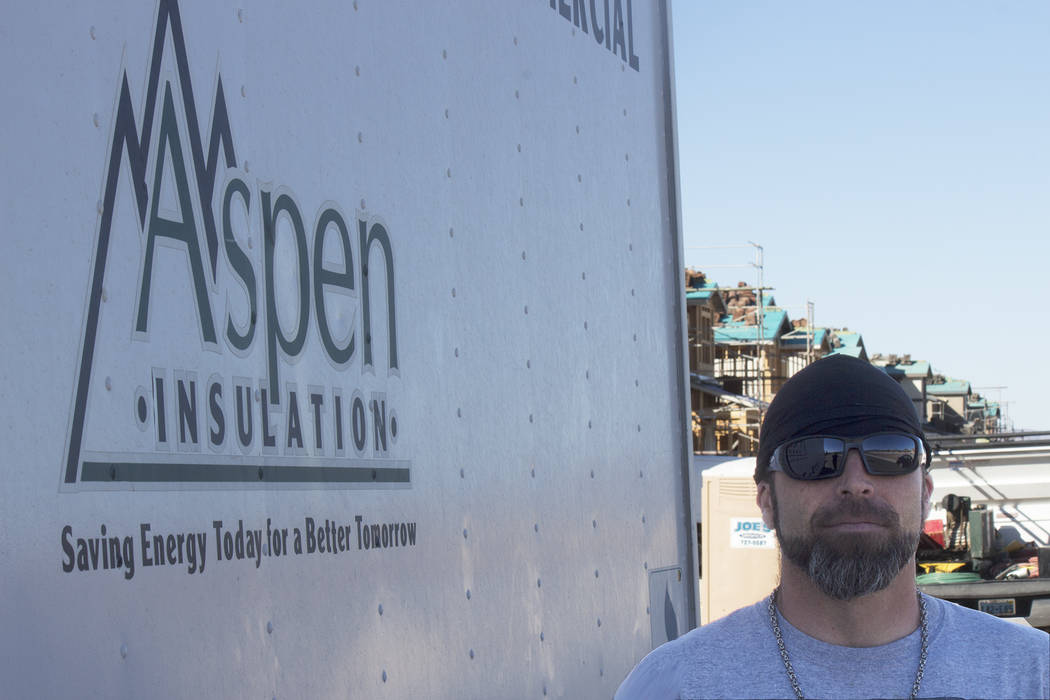 Jeffrey Meehan/Pahrump Valley Times Pahrump resident Jonathan Bush is set to compete in America's Best Insulation Installer Competition on Oct. 18-20 in Denver, Colo. Bush, who works for Pahrump ...
