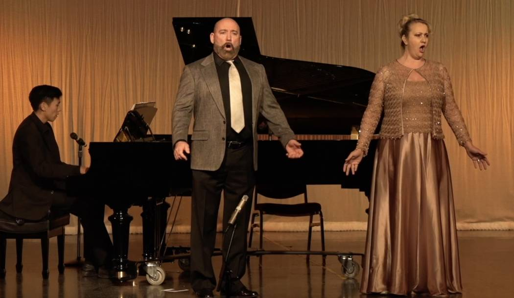 Special to the Pahrump Valley Times Craig Alan Thomas and Rebecca Norris perform onstage at the opening season performance at the Amargosa Opera House.