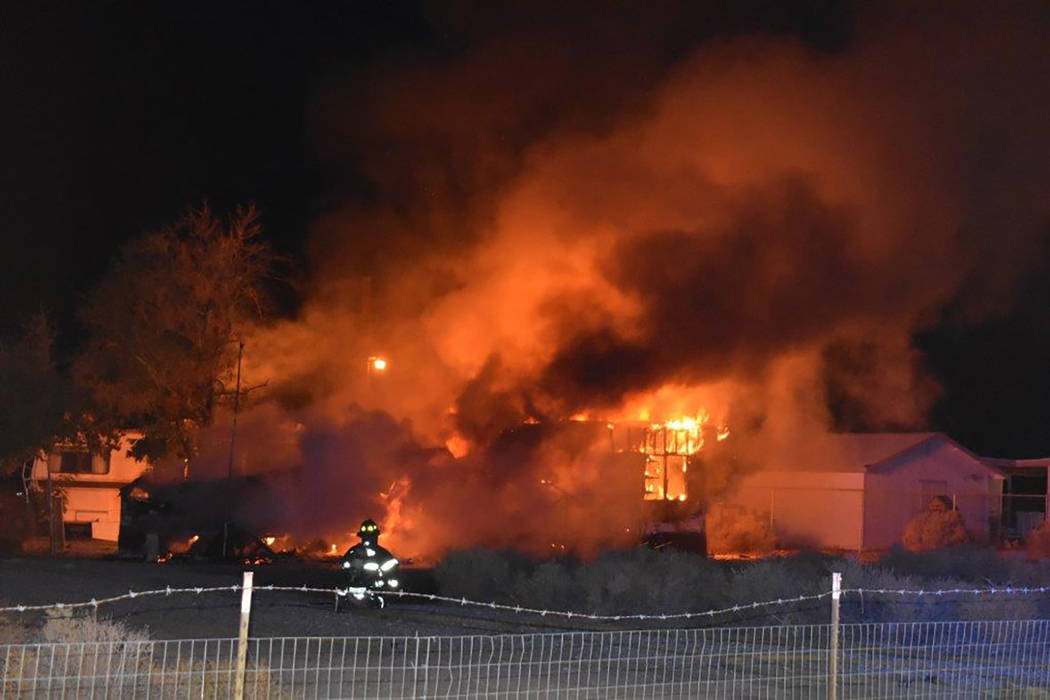 Special to the Pahrump Valley Times Pahrump fire crews responded to deadly a single-wide manufactured structure fire just before 10:30 p.m., on Wednesday October 10. Local resident Jon Carver, 82, ...
