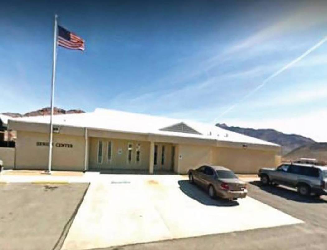 Nye County photo The Beatty Senior Center building had been closed because of a failed drain pipe under the cement floor of the building and because of damage caused by that failure.
