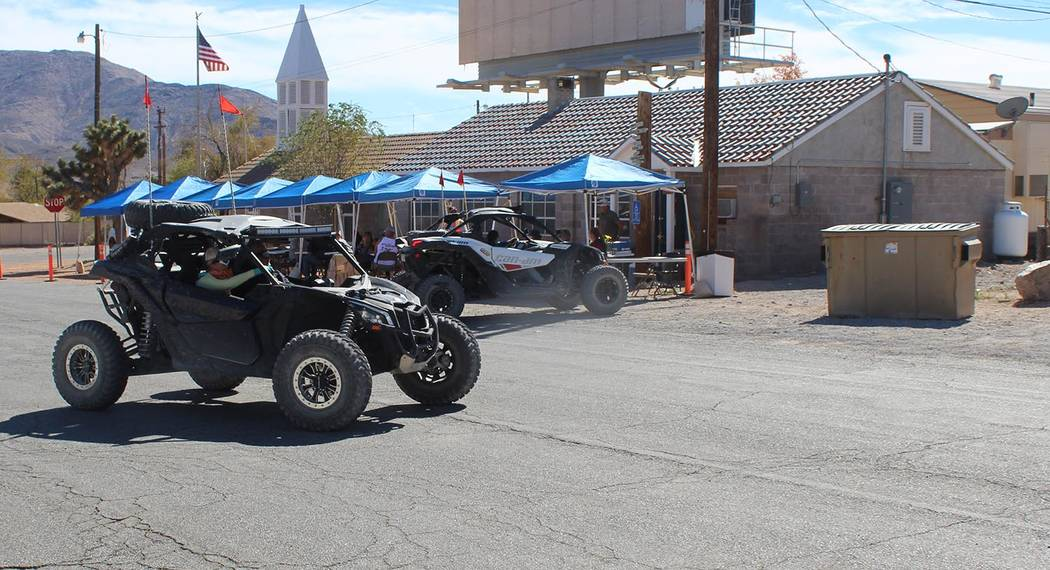 Tom Rysinski/Pahrump Valley Times Poker Run participants returned over several hours on Saturday, as people spent anywhere from three to five hours enjoying the course around Beatty before checkin ...