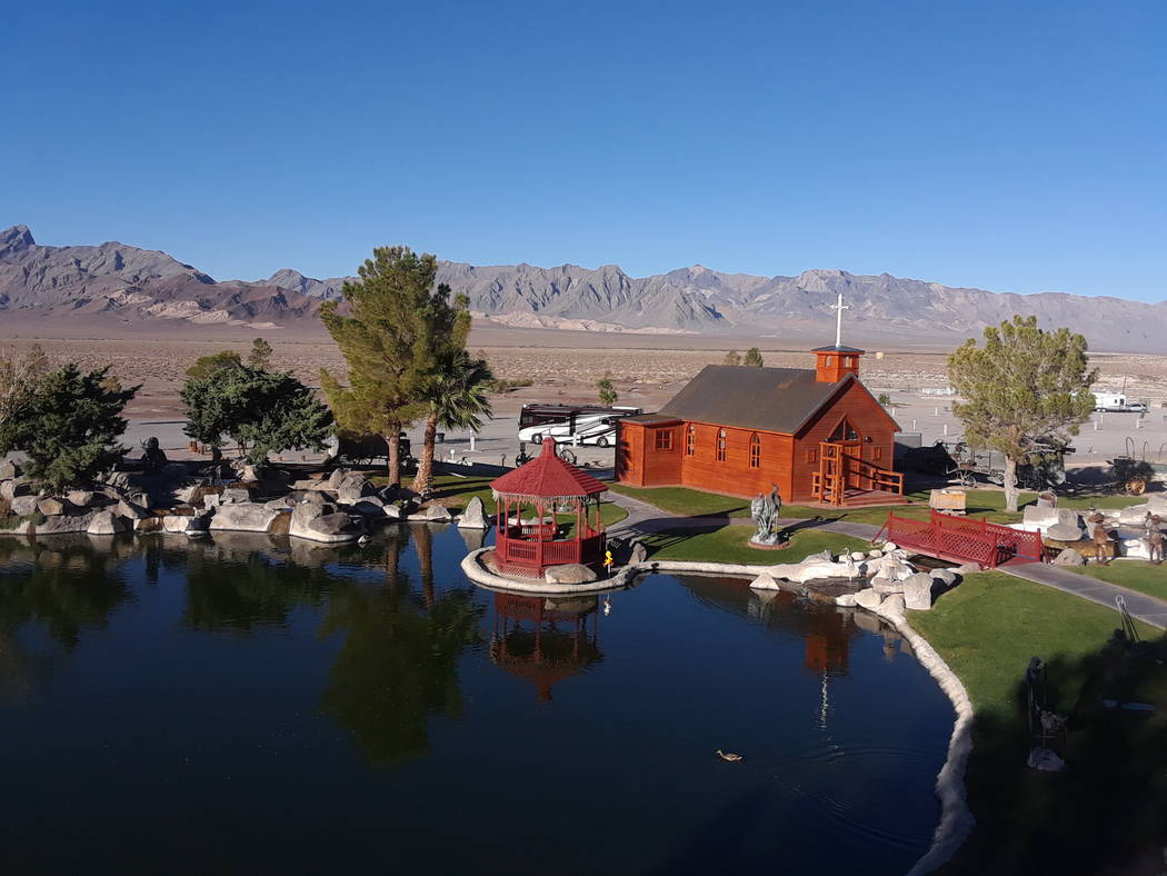 Special to the Pahrump Valley Times The new chapel to be used for weddings and other ceremonies sits along the pond area at the Longstreet Inn Casino & RV Resort in Amargosa Valley. The chapel is ...