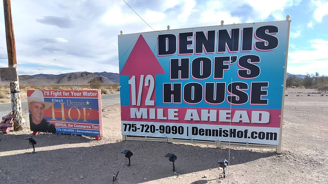 Selwyn Harris/Pahrump Valley Times Hof first arrived in Nevada from Arizona in the mid seventies, where he operated gas stations before venturing into the brothel business back in in 1992. In sum ...