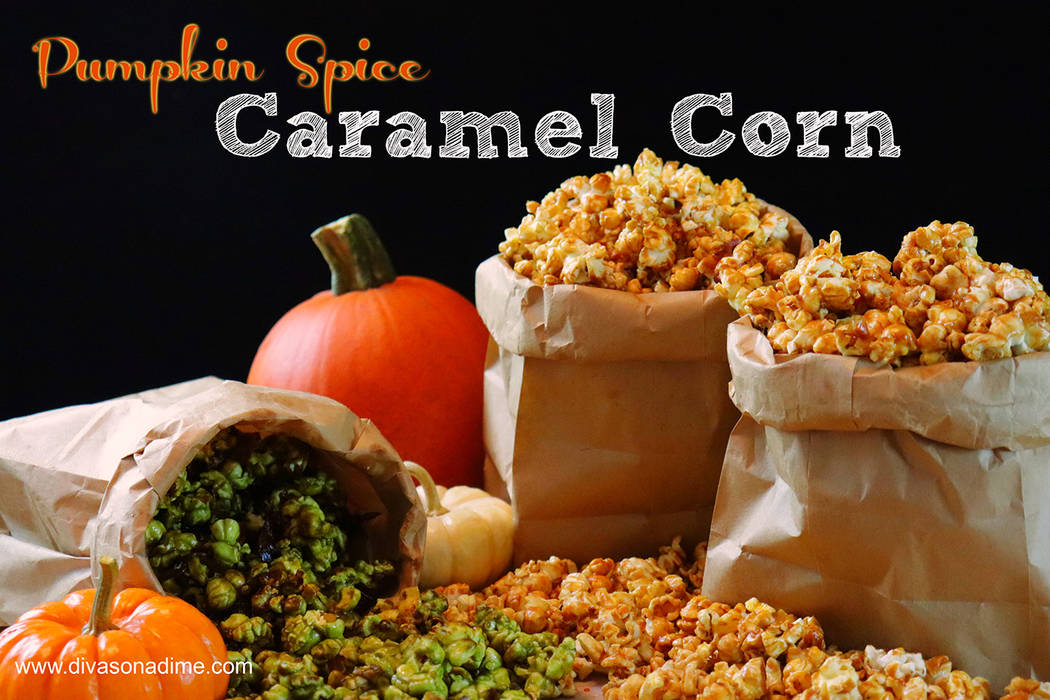 Patti Diamond/Special to the Pahrump Valley Times If you're having a harvest-themed gathering everyone will love the pumpkin spice caramel corn and homemade is so much better than anything you c ...