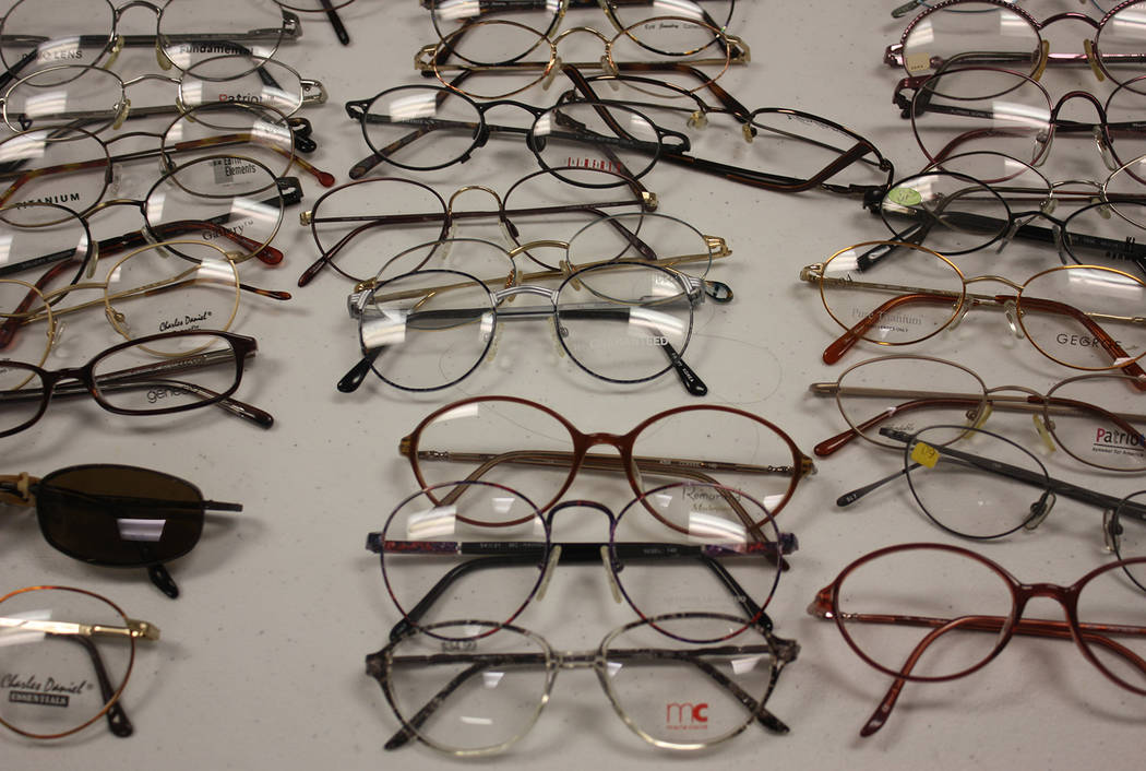 Robin Hebrock/Pahrump Valley Times The Remote Area Medical van came equipped with the machines necessary to manufacture hundreds of pairs of lenses and place them in the frames patients picked out ...