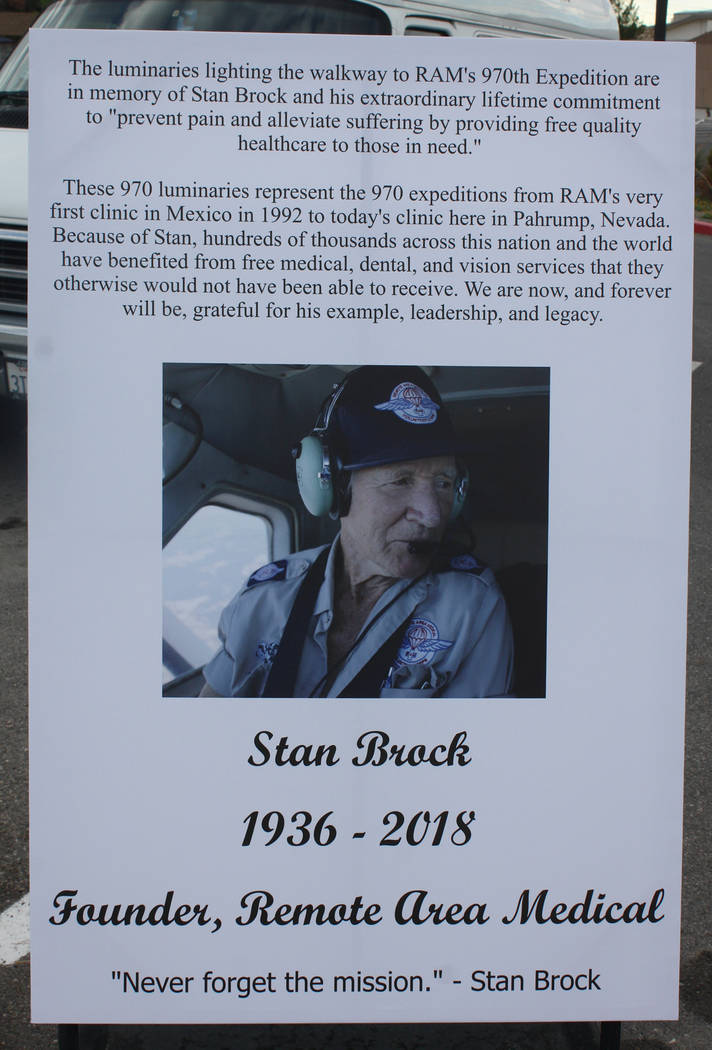 Robin Hebrock/Pahrump Valley Times Stan Brock passed away this year but his legacy lives on in the active efforts of his nonprofit organization, Remote Area Medical.