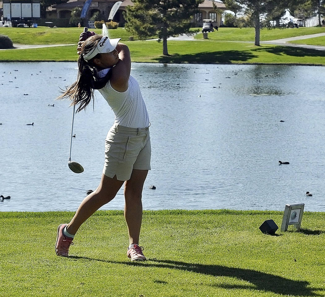 Horace Langford Jr./Pahrump Valley Times Pahrump Valley sophomore Breanne Nygaard shot a 36-hole total of 161 to finish third at the Class 3A state championships Monday and Tuesday in Truckee, Cal ...