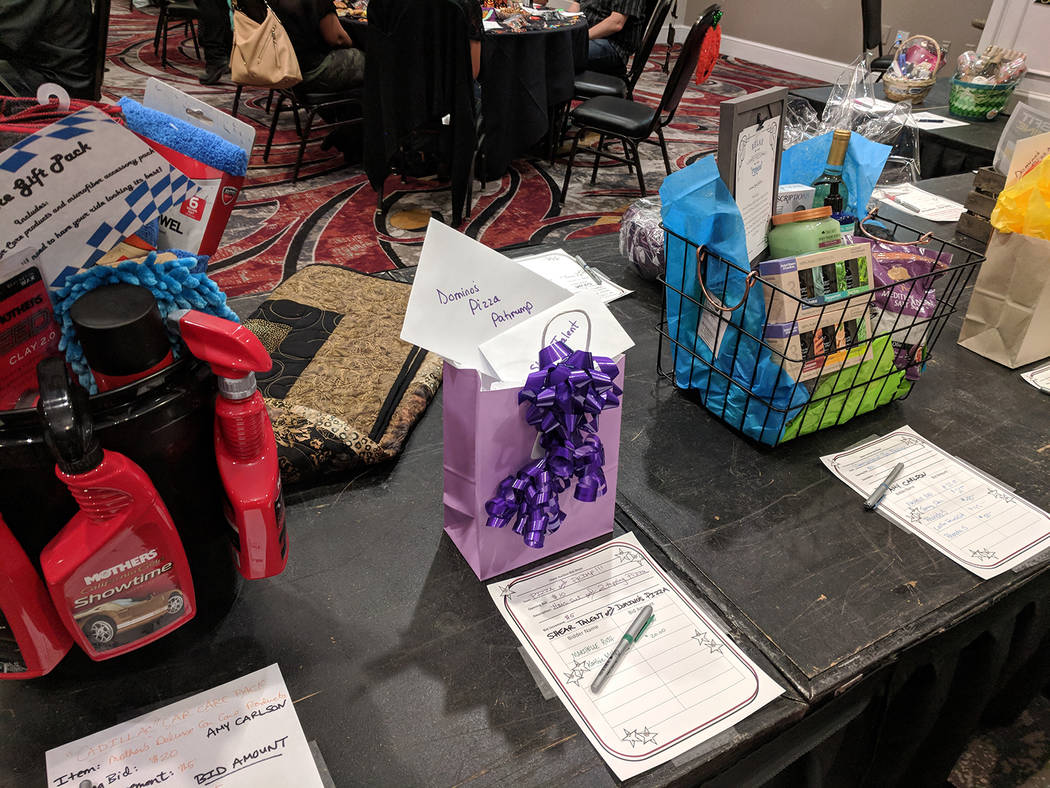 Jolina Mackool/Special to the Pahrump Valley Times The silent auction helped raise additional funds for No to Abuse during the Nye County Celebrity Auction.