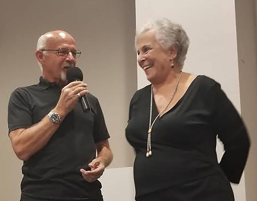 David Jacobs/Pahrump Valley Times Willi Baer, right, is well-known for her charitable doings in Nye County, holding the position of executive director at Pioneer Territory CASA for many years. Bae ...