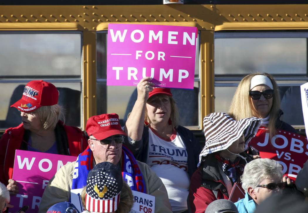 President Donald Trump supporters attend a Make America Great Again Rally in Elko, Nev., on Saturday, Oct. 20, 2018. Richard Brian Las Vegas Review-Journal @vegasphotograph