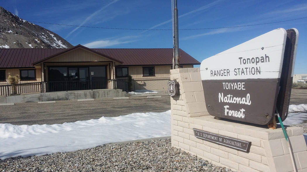David Jacobs/Tonopah Times-Bonanza A look at the Forest's Austin-Tonopah Ranger District Office in Tonopah as shown in a wintertime file photo. Upgrades are set for the site.