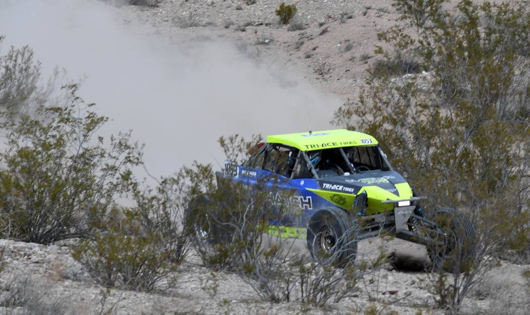 Richard Stephens/Special to the Pahrump Valley Times Off-road racers pounded across the Nevada desert during the S.N.O.R.E. 250 race on Oct. 5-6.