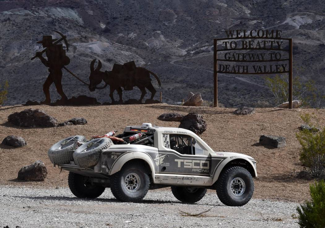 Richard Stephens/Special to the Pahrump Valley Times An off-road vehicle moves through the Beatty area in the S.N.O.R.E. 250 event held eerleir this year.