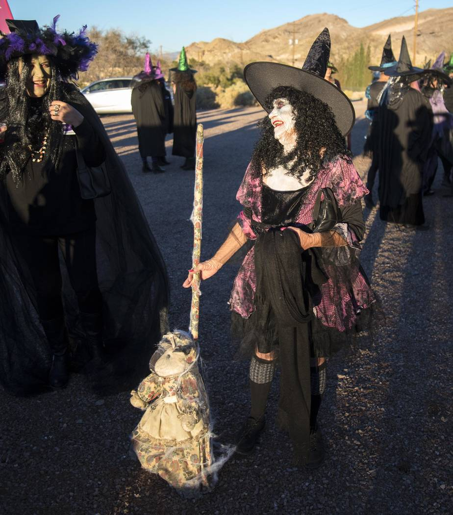 Richard Stephens/Special to the Pahrump Valley Times The inaugural Witches Walk took place in Beatty this month.