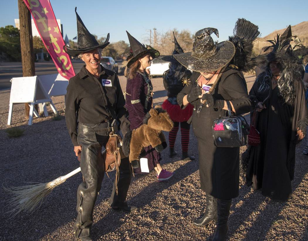Richard Stephens/Special to the Pahrump Valley Times A new special event was held in Beatty prior to Halloween, a witches walk.