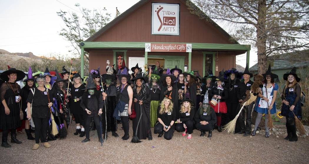 Richard Stephens/Special to the Pahrump Valley Times Streets filled to overflowing with witches earlier this month in Beatty.
