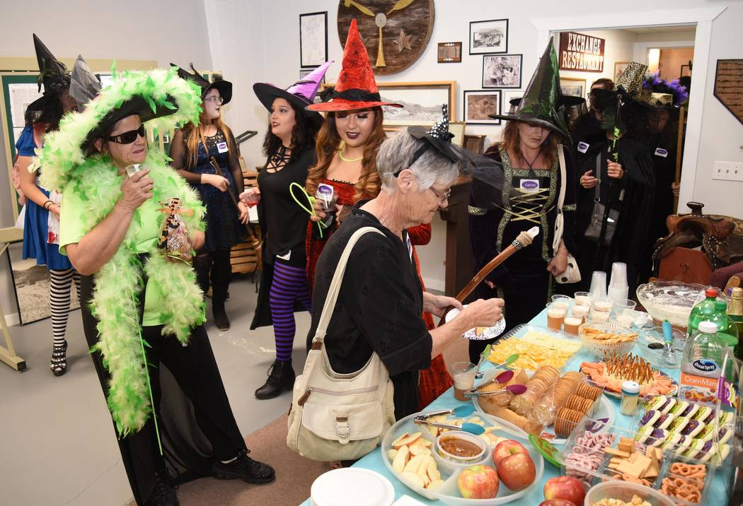 Richard Stephens/Special to the Pahrump Valley Times A scene from a witches walk held in the Beatty community this month.