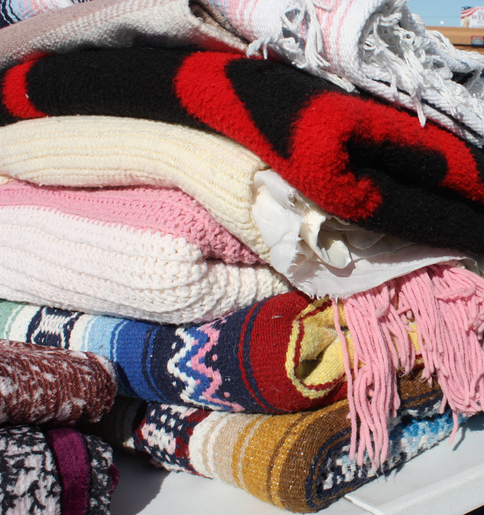 Robin Hebrock/Pahrump Valley Times A simple blanket can make a big difference in the life of a veteran in need, providing warmth and comfort throughout the winter.