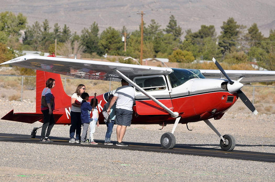 Horace Langford Jr./Pahrump Valley Times - Young Eagles receive a pre-flight check before take-off on October 13.