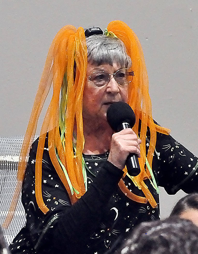 Horace Langford Jr./Pahrump Valley Times - Rotary Club member Dina Williamson-Erdag addresses the audience at the club's most recently fundraising event.