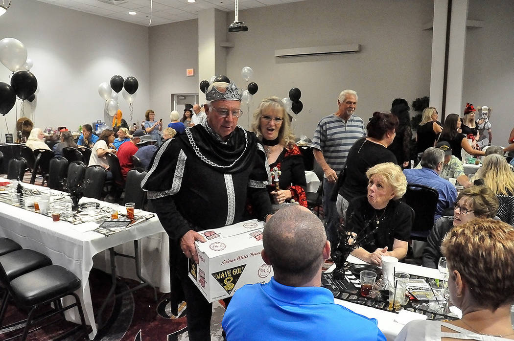 Horace Langford Jr./Pahrump Valley Times - Costumes featuring evil villains were worn by many attending the Cash Extravaganza on October 21.