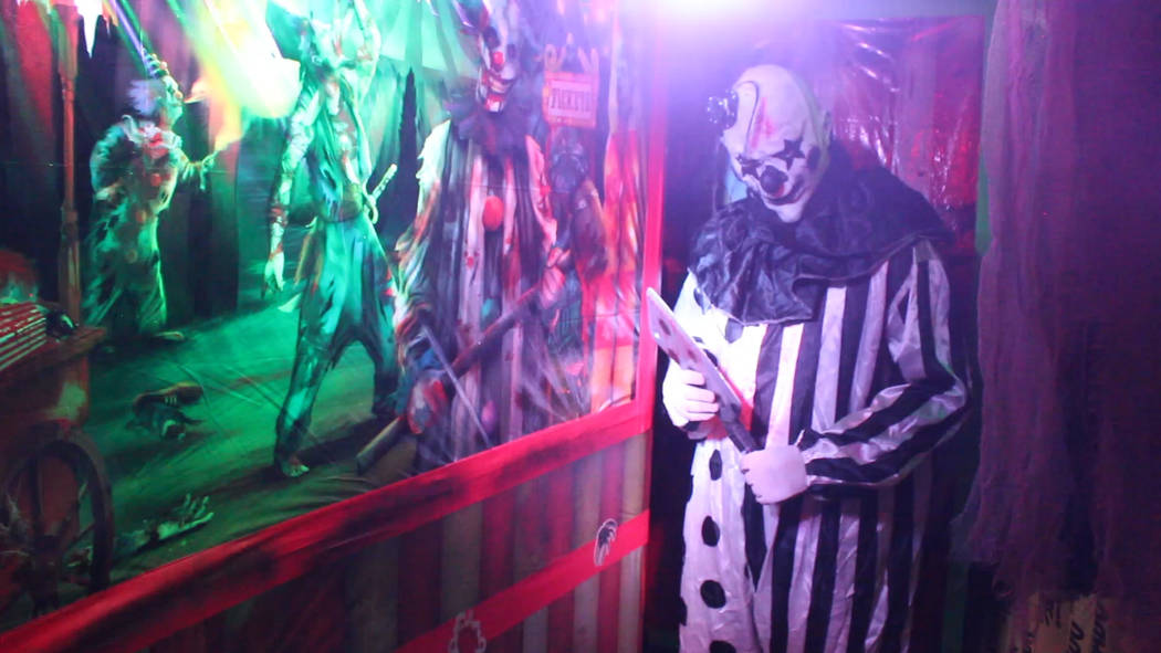 Jeffrey Meehan/Pahrump Valley Times Scary characters await at an area haunted 225-foot-long maze on the north end of town. Those who dare can head over to 1900 Buckboard Lane on Halloween night; e ...